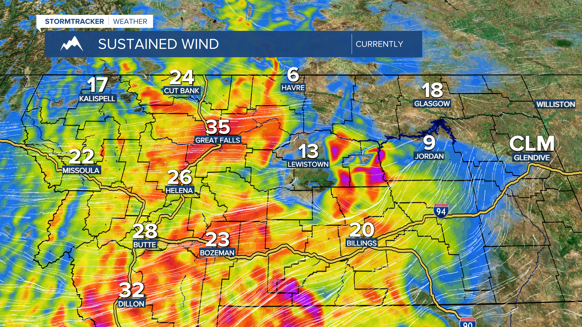 MT Current Sustained Wind