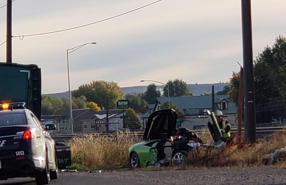 Lamborghini crashes into semi truck in Billings
