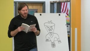 Sugarbeet Falls author Ryan Acra hopes to inspires kids to read, be creative and be kind to one another.