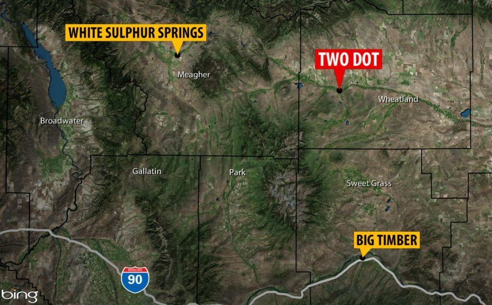 two dot montana map Grizzly Bear Kills Calf North Of Two Dot