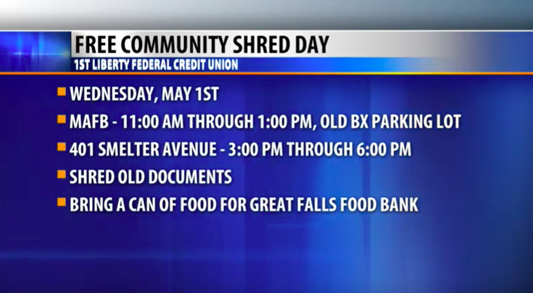 Community Connection: 1st Liberty FCU Community Shred Day